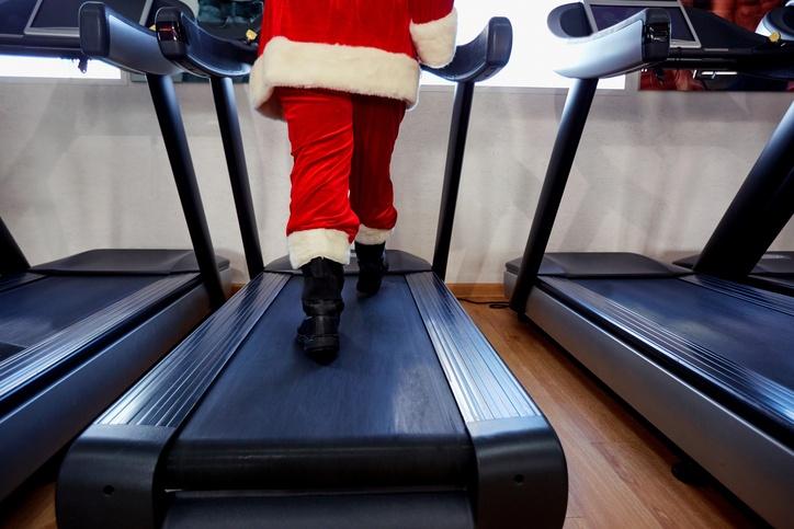 Santa on Treadmill